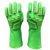 防冲击手套 PVC浸胶手套 防油防酸碱防震动耐磨 热塑性橡胶TPR