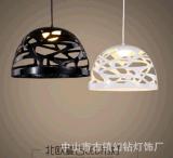 玻璃鋼鏤空藝術吊燈 餐桌吧檯咖啡廳臥室黑白色後現代裝飾led燈具