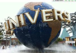 上海零爵地球仪景观玻璃钢雕塑
