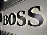 宁波不锈钢灯箱  背发光字钛金字  LED门头字制作  logo户外广告招牌