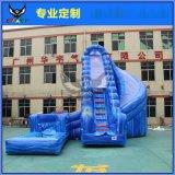 水上樂園大理石灰水滑梯大型水上闖關充氣水池充氣水滑梯水上玩具