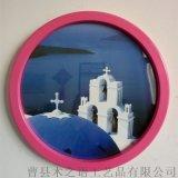 熱銷木質單相框創意復古歐式圓形照片牆來樣定製