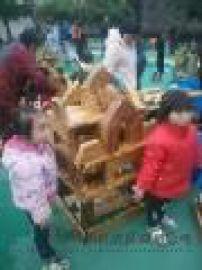 积木 炭烧积木 木质积木玩具 儿童积木
