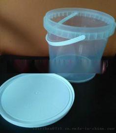透明易开启 4L塑料桶 半透明4升塑料桶