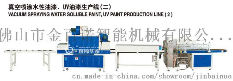金百诺机械供应木线条真空喷漆机,门框、门套线喷漆机