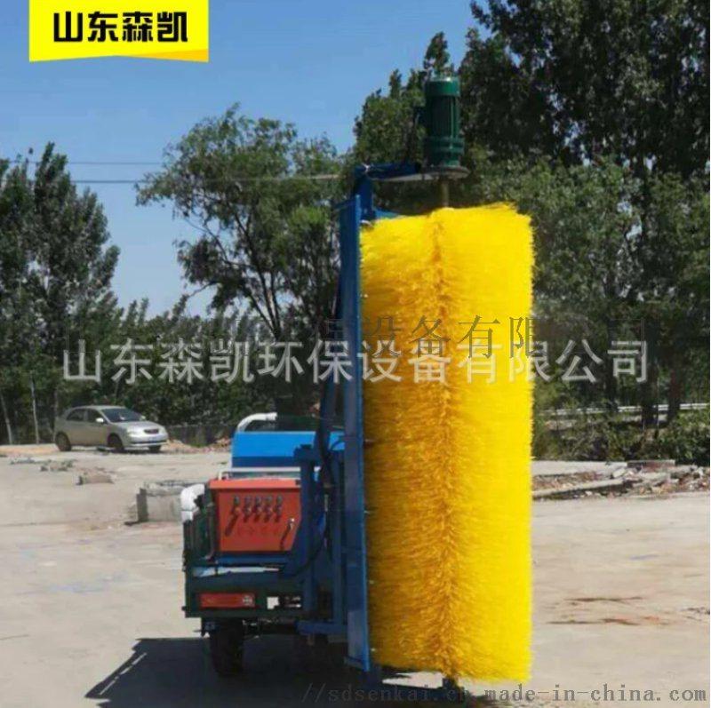 济南厂家专业制造工地围挡清洗机 市政工程围栏清洗车