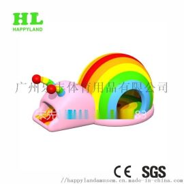 **设计充气蹦床跳床 彩色蜗牛主题