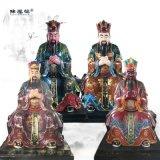 道教神像-三元夏君与五岳大帝神像河南南阳佛像厂家