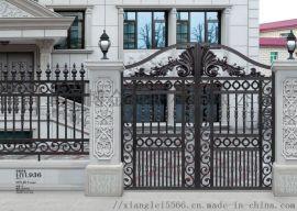 别墅庭院大门选购洛阳新安铝艺大门A铸铝庭院门厂家