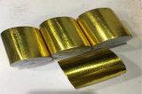 廠家直銷金色鋁箔背膠纏帶 防火阻燃自粘鋁箔纏帶