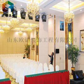 蚌埠酒店活动隔断墙客厅餐厅移动屏风
