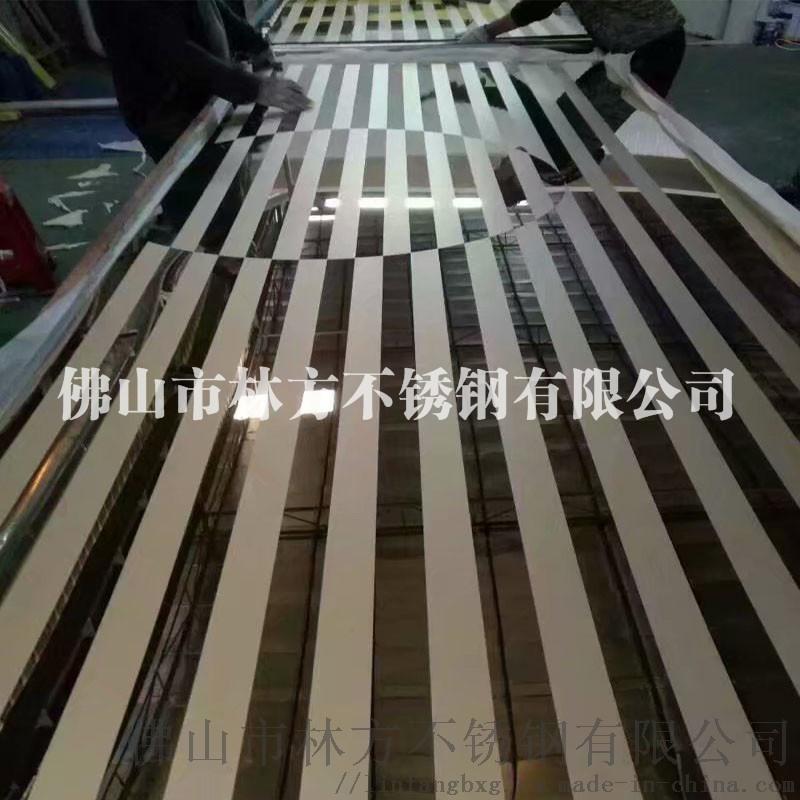 供应304不锈钢酒店装饰材料 蚀刻组合工艺花纹板