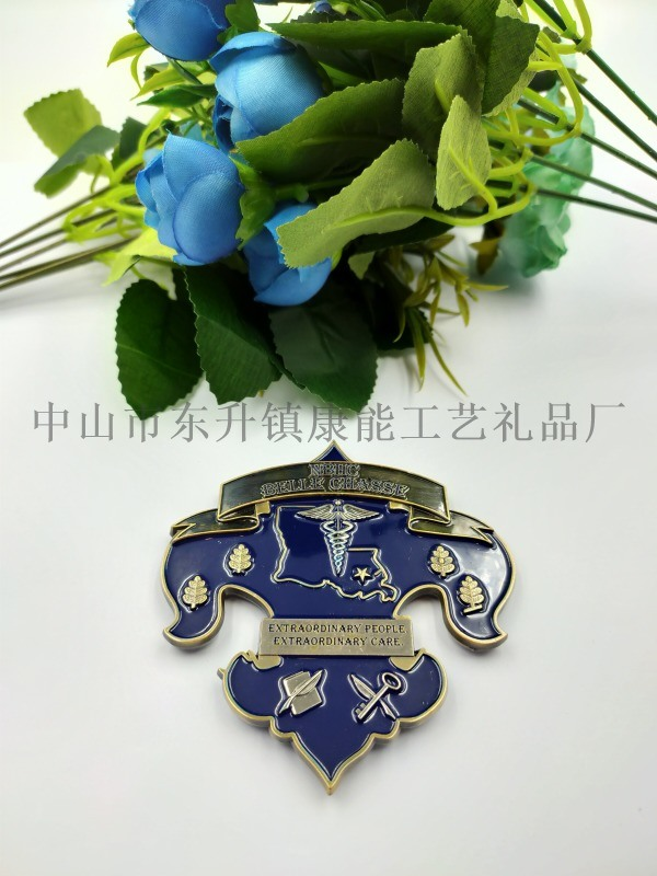 中山定制金属纪念币,3D浮雕双面币,专属定制纪念章