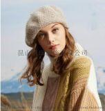 女式保暖針織棉晴貝雷帽