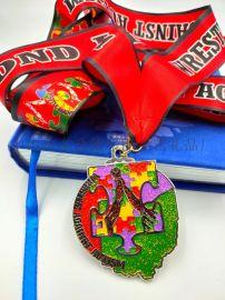 厂家直销 七彩奖牌 运动会奖牌 专业定制奖牌 卡通形象奖牌