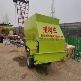 多用途牲畜饲料投料机猪场牛羊高效率电动撒料车