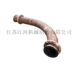 东营耐磨管道 球形陶瓷耐磨弯头 江河机械