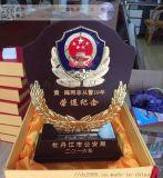 从警/荣休纪念品 单位年度表彰奖牌 退役木质礼品