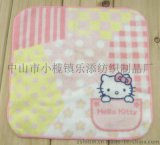 厂家定制广告礼品纯棉活信印花儿童卡通方巾花边手帕