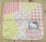 廠家定製廣告禮品純棉活信印花兒童卡通方巾花邊手帕