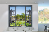 定制108系列断桥铝窗纱一体窗