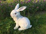模擬卡通動物寫實兔子樹脂工藝品 園林雕塑 新年禮品