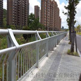 杰拉特生产桥梁景观护栏灯  合管钢板立柱防撞护栏