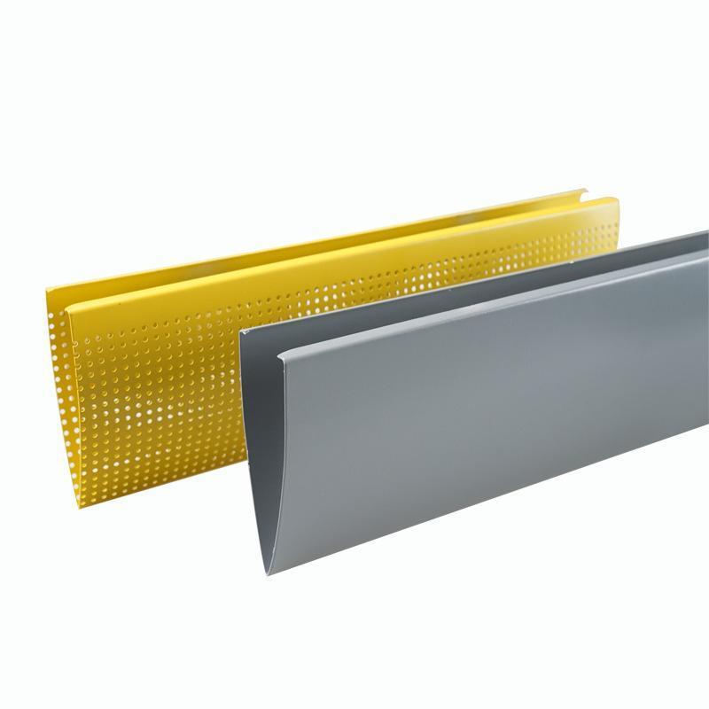 水滴鋁掛片天花廠家定製現貨鋁垂片滴水吊頂材料規格