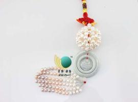珍珠汽车挂饰 摆挂饰 汽车内装饰品 如来福玉140130