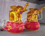 开业庆典充气金象定做|广州充气金色系列广告模型|湖南金狮子气模