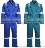 供应纯棉阻燃连体服,防火服,石油化工天然气劳保工作服