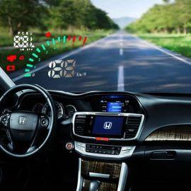 新款5.5寸HUD抬头显示器OBDII通用多功能车载行车电脑 工厂批发
