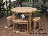 PS環保木圓桌扇形椅現代簡約桌椅花園庭院桌椅馨寧居戶外休閒傢俱