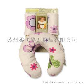 新款宝宝颈圈 柔飞婴儿U型枕 儿童汽车座椅枕 防侧翻安全小枕头