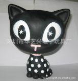 可愛的搪膠小貓咪,大頭貓,動漫卡通產品,禮品工藝品加工生產