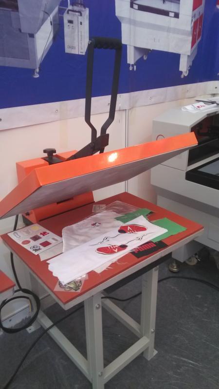 手动平面热转印机,直压烫画机