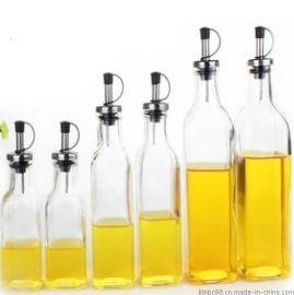 橄榄油玻璃瓶 直口油瓶 食用油瓶 不锈钢油嘴