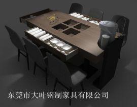 东莞小户型实木餐桌家用多功能木质带抽屉餐桌