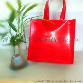 (专业工厂)厂家直销精美PVC手提袋 车缝PVC购物袋 可印刷LOGO