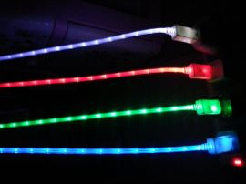 发光数据线打点光纤