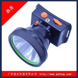 新款LED 可带头上 三色光源变光头灯 锂电池可充电 35W 厂家批发