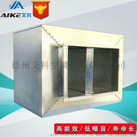 304不锈钢消音箱 风管消声器 白铁皮消声静压箱