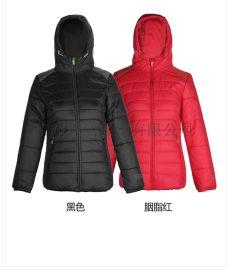运动品牌男女冬季拼色连帽纯色加厚棉服折扣尾货正品