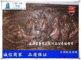 上海八仙过海浮雕八仙雕塑人群图
