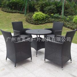 户外家具之PE仿藤桌椅