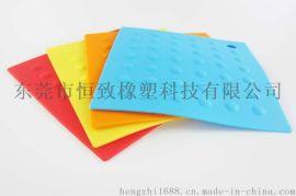 耐高温硅胶烘焙垫 方形圆点硅胶锅垫餐垫 厨房硅胶垫
