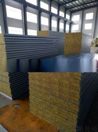 岩棉净化板 彩钢夹芯板   夹芯板活动房