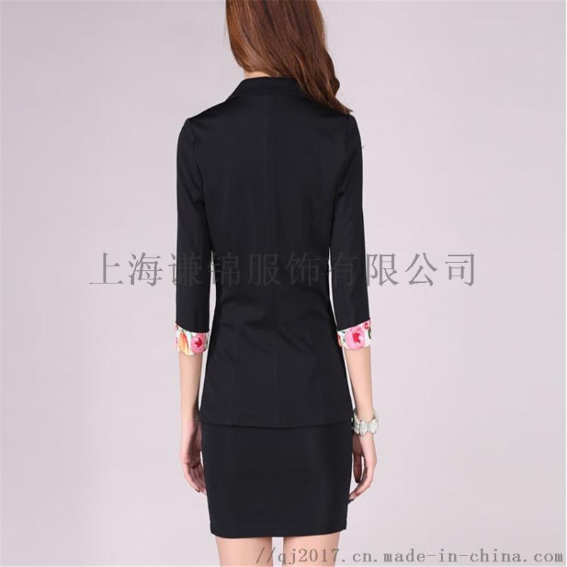 女人纯色修身收腰商务西装女士西服休闲职业装上门定做
