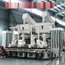 木屑颗粒机生产线生产流程 燃料颗粒机价格