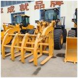 青州山工裝載機直銷50剷車 5噸抓木機濰柴發動機